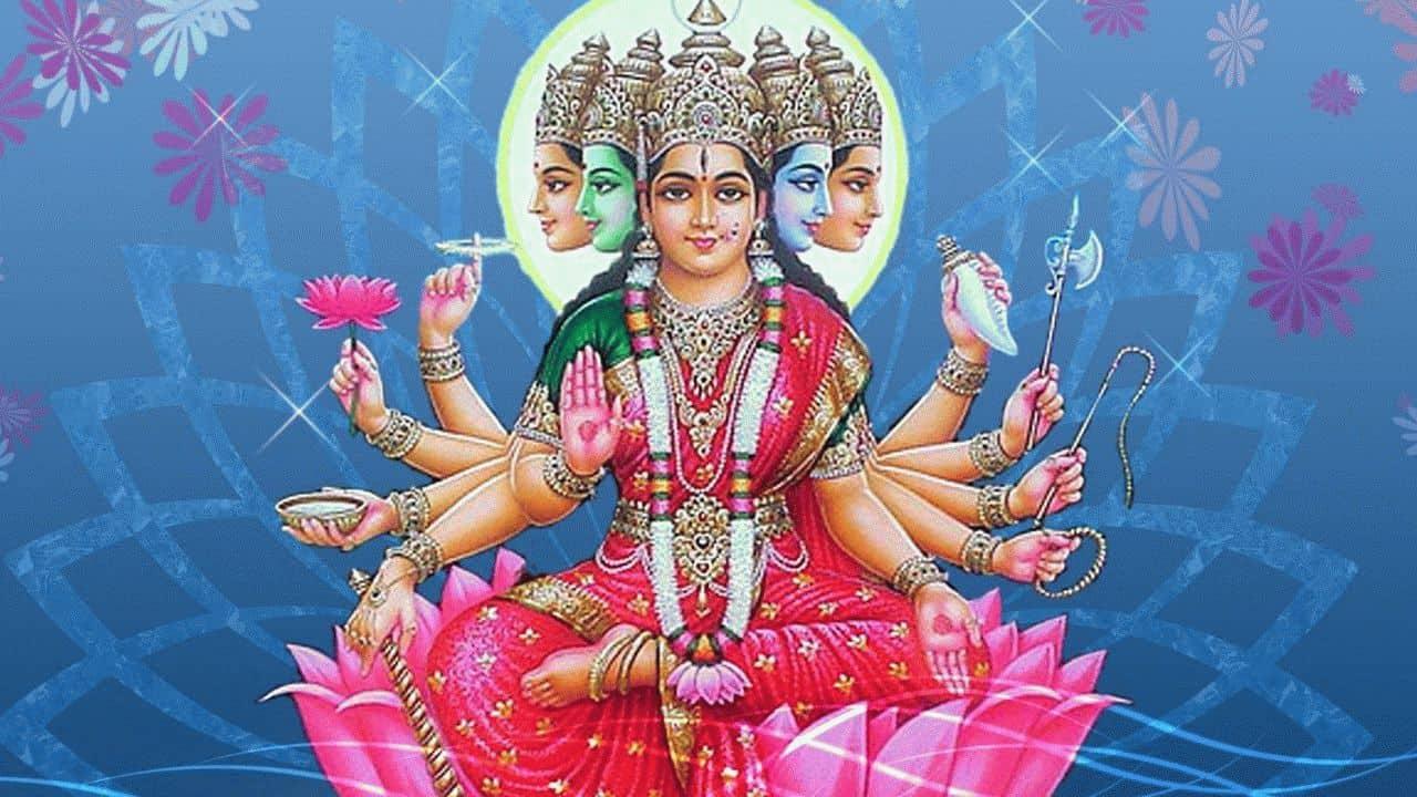 изображение богини Гаятри